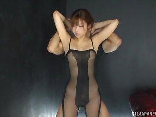 Mizukawa Sumire wearing nylon makes one lucky defy burst
