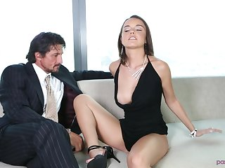 Unrelieved can please Dillion Harper like getting her shaved pussy fucked
