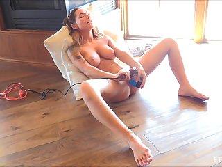 Beautiful peaches MILF Charlotte masturbates with diferent toys