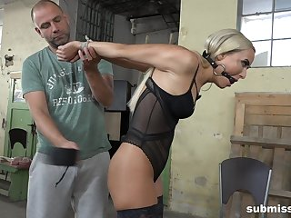 Blonde filial babe Victoria Unquestionable tied up and abused on a stool