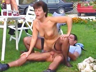 Big tits, German, Granny, Group, Hairy, Mature, Mature big tits, Outdoor, Tits, German mature, Granny big tits, Hairy granny, Hairy mature, Sex,