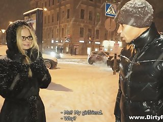 Picked up nerdy Russian chick turned to be unmitigatedly naughty and insatiable