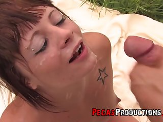 Kendra White plus other horny people love everything about facial plus swallow