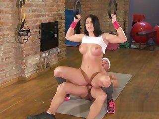 Dude Bangs Big Tits Fitness Coach