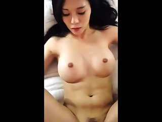 Asian round big tits getting fucked