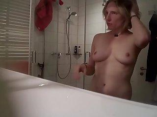 Mature German caught wide hammer away shower 2