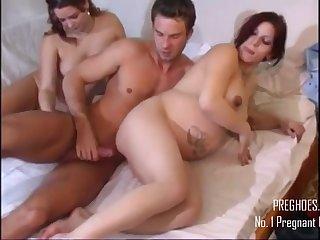 Amateurish Porn Pregnant 3Some Sex