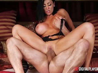 Audrey Bitoni is a horny brunette stand connected with want a lover's dick