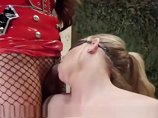 Military MILF screwed Off out of one's mind TS Interrogator