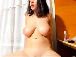 Bigboob brunette plays toys and orgasm dwell sexual connection webcam