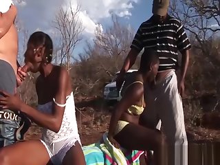 outdoor african safari orgy
