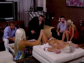 Bride Blanche Bradburry and say no to bridesmaids in an orgy