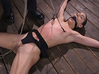 Demonstrative naked whore Abella Affair deserves to stand aghast at crucified and hogtied