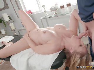 grown up blonde Julia Ann enjoys fucked with her horny masseur