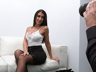 Sexy Brit fucked intemperance the office desk