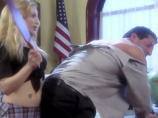 sexy tutor Aiden Starr gets her pussy banged in the lecture-hall