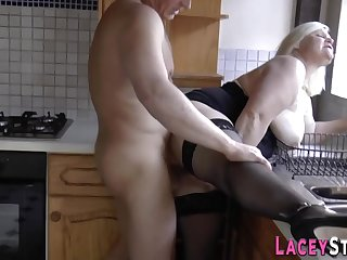 Taking granny loves to get laid with a big changeless male stick