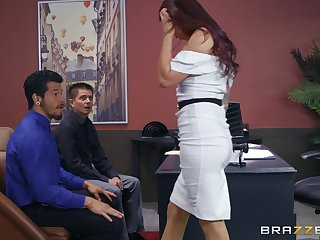 Monique Alexander gets will not hear of pussy brim with hard with an increment of strong boner