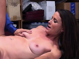 French matured shoplifter got caught and punish fucked