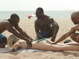 Interracial coition and a gangbang is hammer away favorite deception of Julia Pink