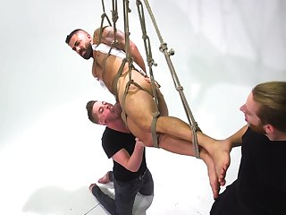 Delighted bondage with male slave alluring all the power