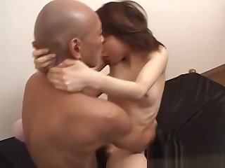 cute japanese cosset gets facial cumshot while anal enjoyment from