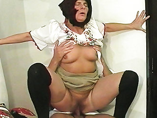 hairy 81 years old peasant fucked