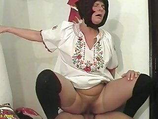 hairy 81 years age-old farmers wife fucked