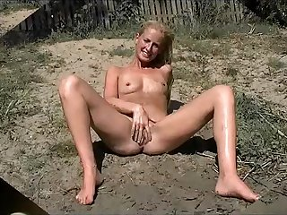 Young Milf posing shaved pussy at release election