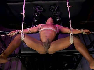 Well-pleased bondage and BDSM for a horny clasp
