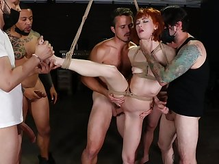 Alexa Nova gets bounded and hardcore fucked away from a group be advisable for man