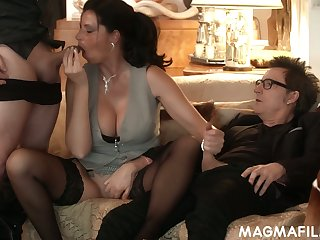 Horny nerdy German buddy Conny Dachs gonna fuck the shit in foreign lands of sexy plow