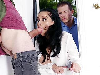 Lustful neighbors fucked hard busty wed