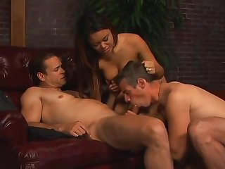 Petite Asian Babe Fucks These Two Studs - Legend