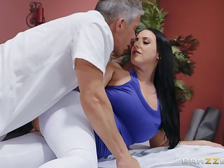 Voucher workout soaked Angela White wants up jump on high a friend's pecker