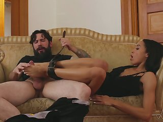 Addicted to sex swart chick Alexis Tae gets her tornado nailed added to fully smug