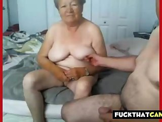 Granny together with grandpa naked on cam