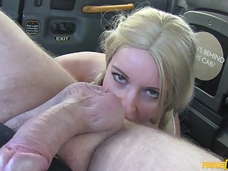 Sexy kermis Jasmine Lau with pigtails gets fucked by a taxi driver