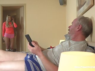 Sexy babe Diana enjoying some quality time with her horny stepdad
