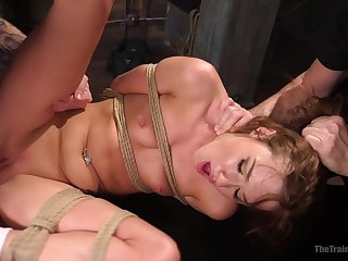 Submissive Alaina Dawson enjoys sex games in the long run b for a long time she hangs tied
