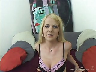Blonde pornstar shows her spot on target ass then has her asshole fucked on POV