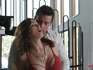 Lickerish MILF with huge boobies Krissy Lynn feels nice as A she rides dick