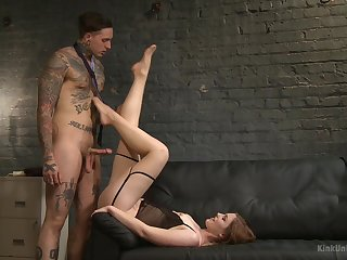 Tattooed hunk fucks mommy's ass coupled with cums on her face