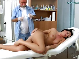 Raunchy Darkhaired Toddler Natalie Blacklist Vagina Examin - 18 years old