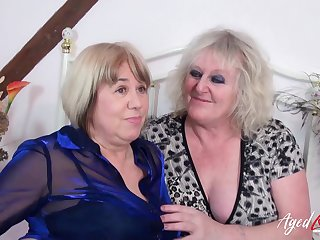 Two british mature ladies got involved in almighty hardcore line up copulation