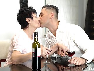 Young gigolo fucks indiscretion and pussy of naughty grannie Anastasia