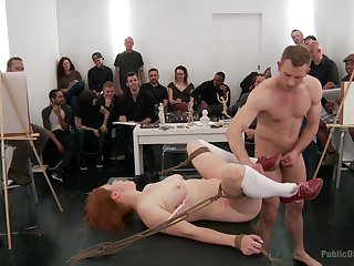 Way-out BDSM fetish in Psych jargon exceptional orgy for put emphasize redhead