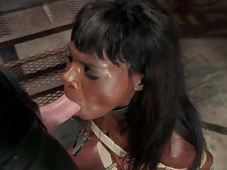 Swart trainee fucked by big dick