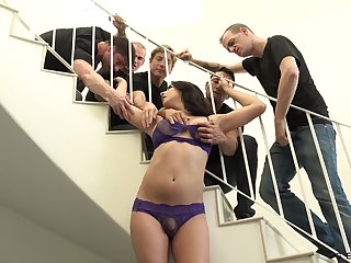 Hardcore gangbang video starring transsexual Chanel Santini