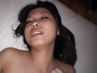 Brim-full Japanese shaved unskilful private sex video